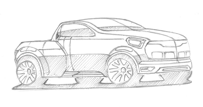 Car design drawings all line weight is the same