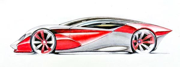 Student sketch - autmotive deisgn course