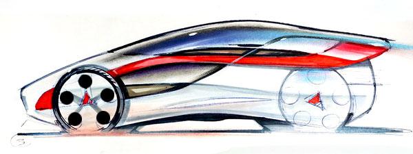 Car deisgn sketch done by tutor